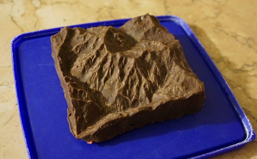 Vioz di cioccolata in scala 1:250.000